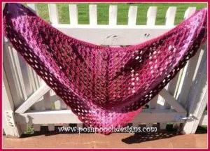 Crochet Briar Rose Shawl by Posh Pooch Designs