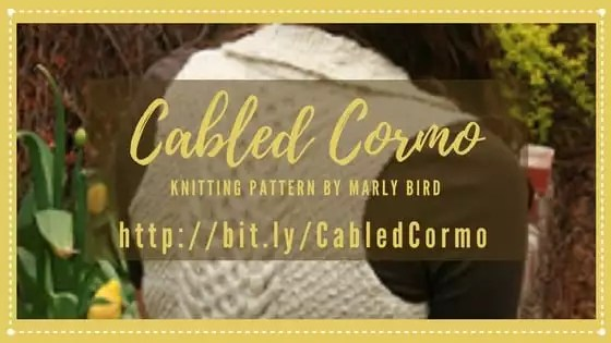Cabled Cormo Vest Knit Pattern By Marly Bird