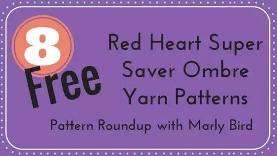 8 Free Red Heart Super Saver Ombre Patterns