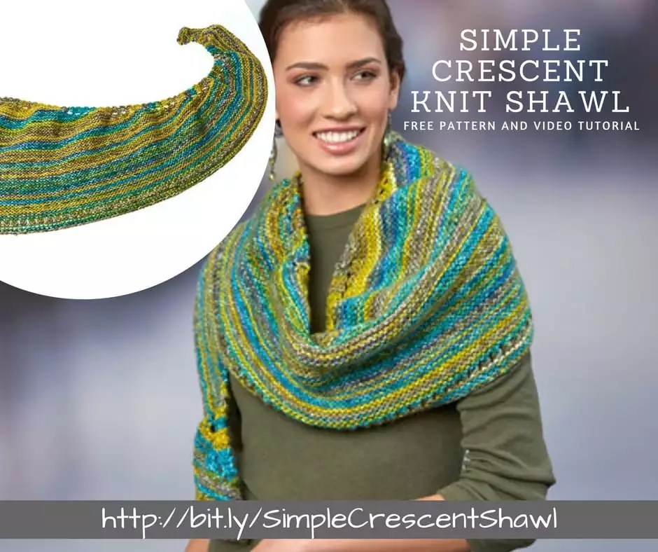 How To Make The Simple Crescent Knit Shawl Marly Bird