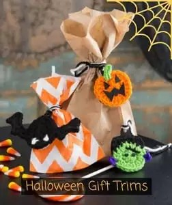 Red Heart Free Pattern Halloween Gift Trims