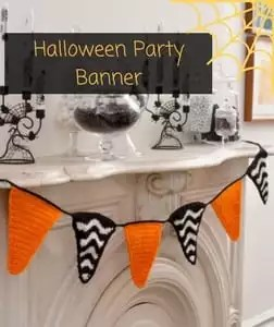 Halloween Party Banner Free Pattern from Red Heart