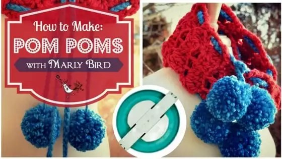 Video Tutorial How to Make Pom Poms with Marly Bird