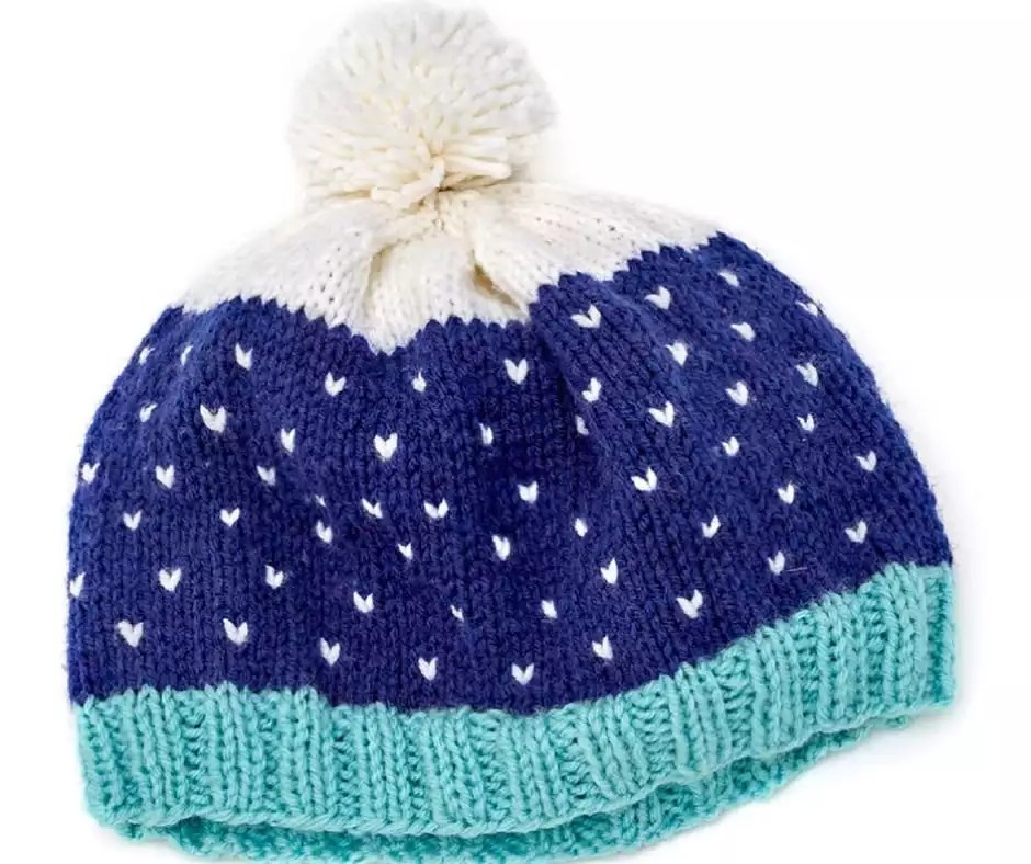 Snow Speckled Fair Isle Hat-Free Pattern and Video Tutorial