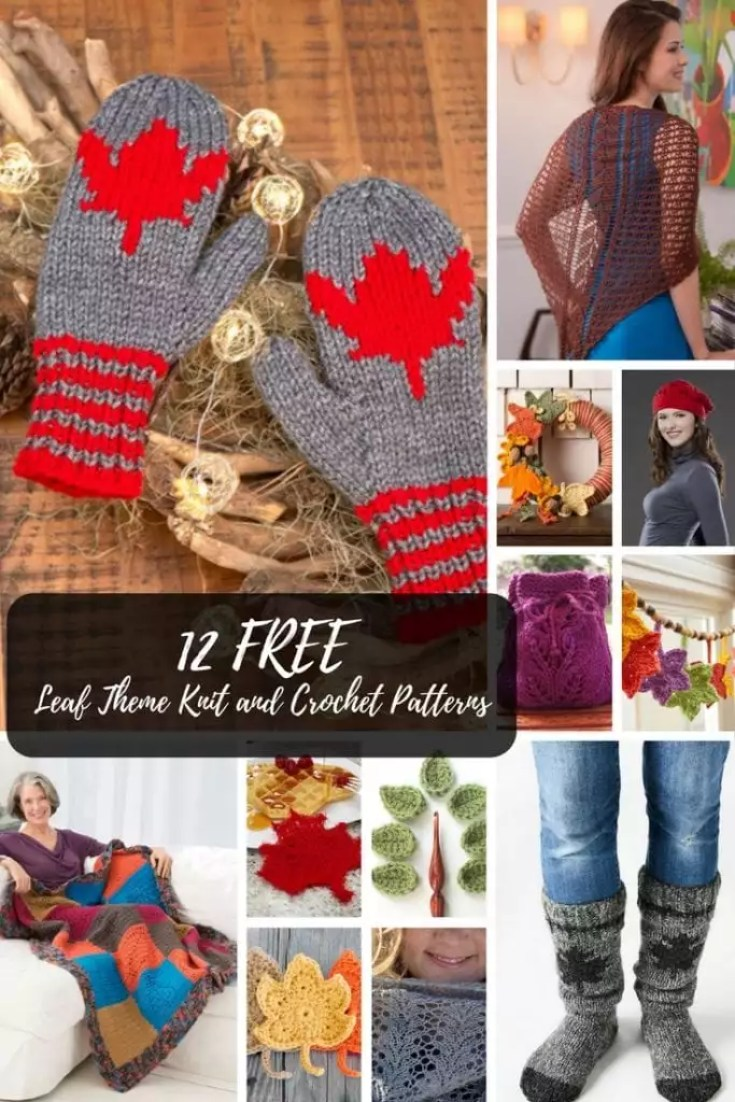 12 Free Knit And Crochet Leaf Patterns Marly Bird