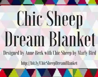 Chic Sheep Dream Intarsia Knit Blanket || Free Intarsia Afghan Pattern by Anne Berk