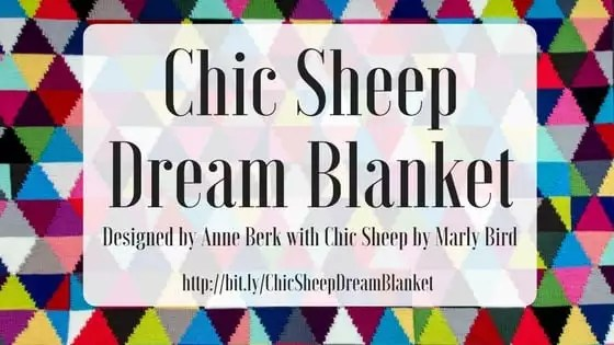 Chic Sheep Dream Blanket-FREE Pattern designed by Anne Berk