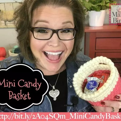 Hygge Crochet Mini Candy Basket