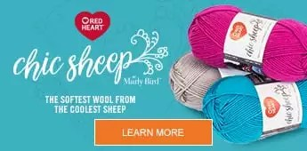 Chic Sheep by Marly Bird-NEW Marino Wool Yarn from Red Heart