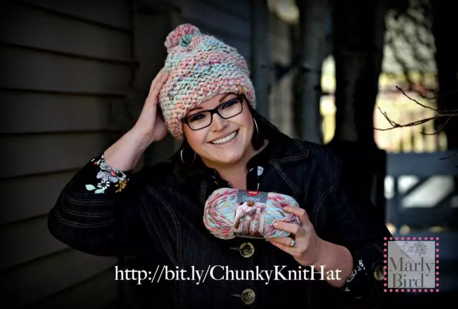 Absolute Beginner Chunky Hat Pattern and Video Tutorial by Marly Bird