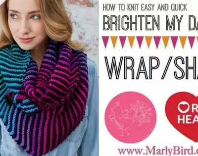 Video Tutorial: How to Knit Easy and Quick Brighten My Day Knit Wrap