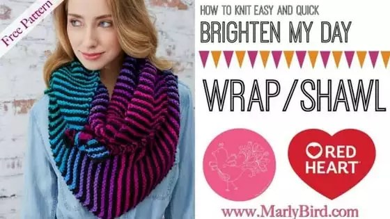 Video Tutorial How to Knit the Easy and Quick Brighten my Day Shawl