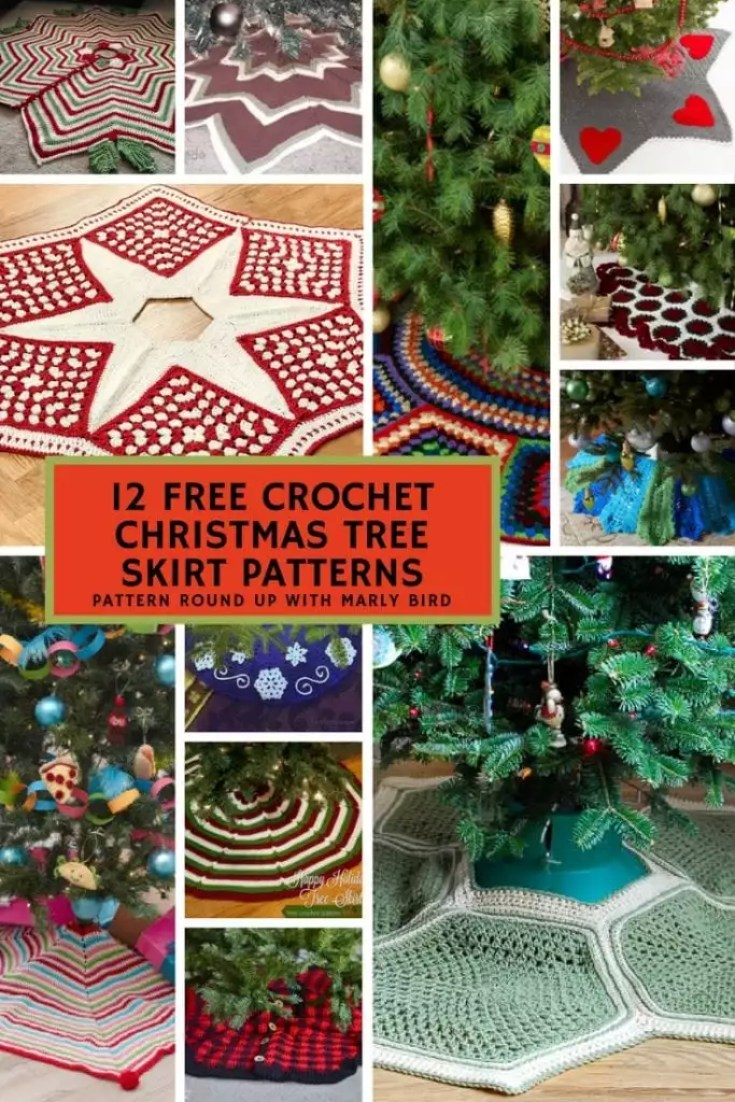 12 Free Crochet Christmas Tree Skirt Patterns Marly Bird