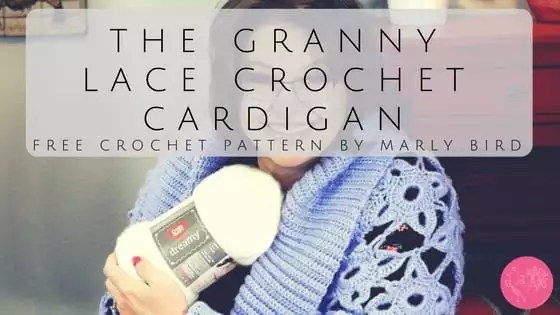 Free Crochet Pattern by Marly Bird The Granny Lace Crochet Cardigan