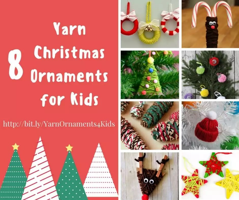 Yarn Christmas Ornaments For Kids Marly Bird