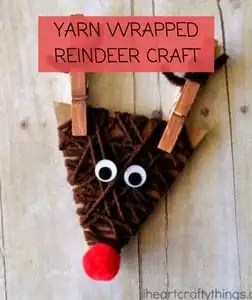Yarn Wrapped Reindeer Craft