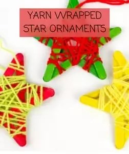 Yarn Wrapped Star Ornaments