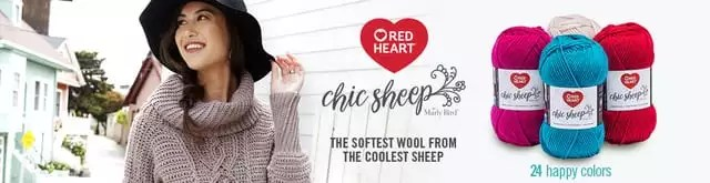Chic Sheep by Marly Bird from Red Heart