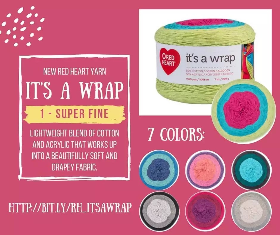 It's A Wrap super fine cotton and acrylic yarn from Red Heart