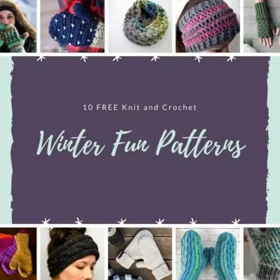 10 FREE Knit and Crochet Winter Fun Patterns