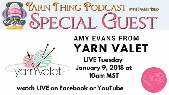 Yarn Thing Podcast with Marly Bird and guest Yarn Valet