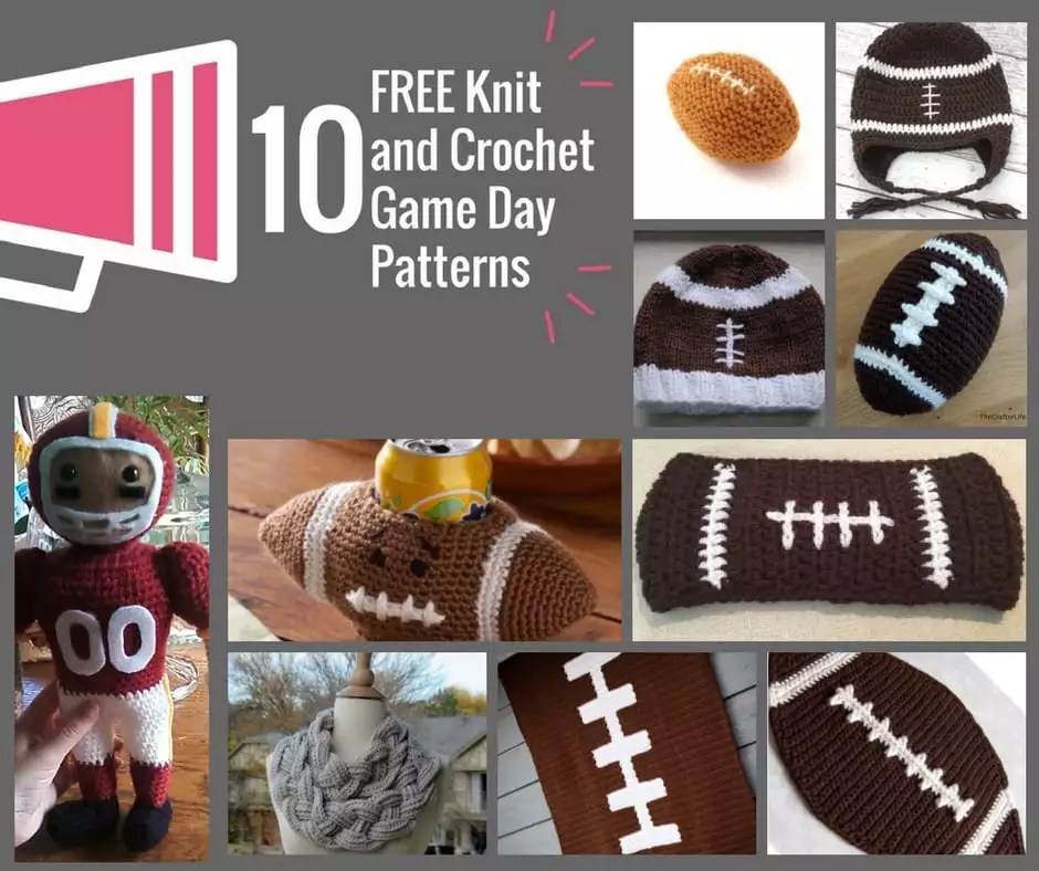 Free Knit And Crochet Game Day Patterns Marly Bird