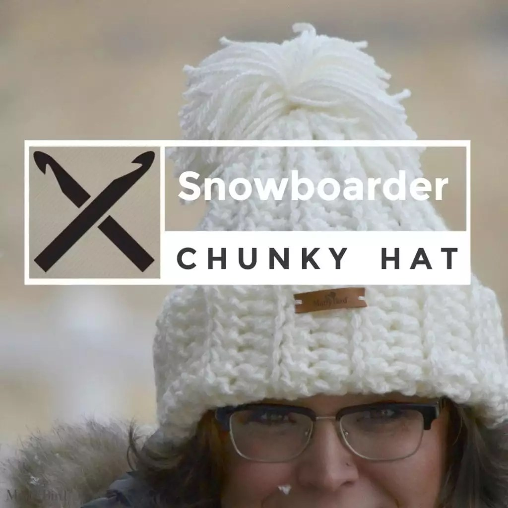 Snowboarder Crochet Chunky Hat - Marly Bird™ f8b46fb8c78