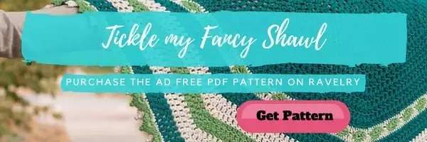 Tickle my Fancy Shawl-Crochet Shawl pattern by Marly Bird