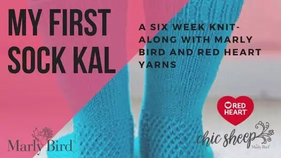 My First Socks Knit-Along with Marly Bird and Red Heart Yarns