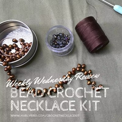 Crochet Beaded Necklace Kit Review in the Weekly Wednesday Review