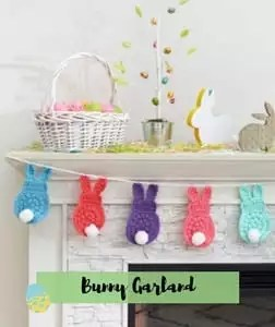 Bunny Garland Crochet Easter Pattern