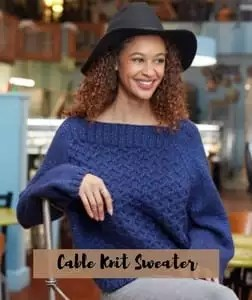 FREE pattern Cable Knit Sweater