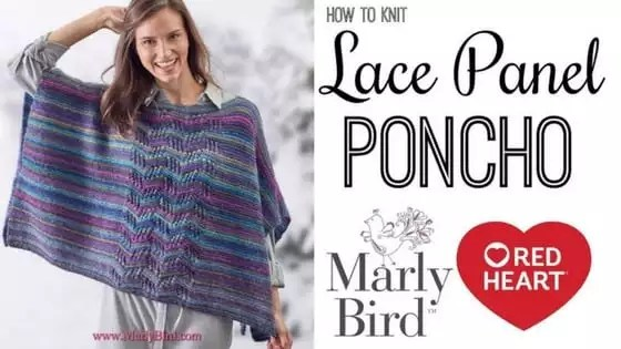 Video Tutorial How to Knit the Lace Panel Poncho