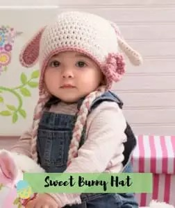 Sweet Bunny Hat Crochet Easter Pattern