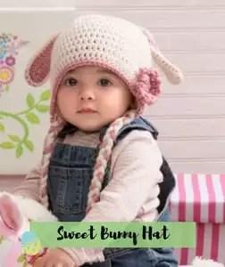 Sweet Bunny Hat Crochet Easter Pattern