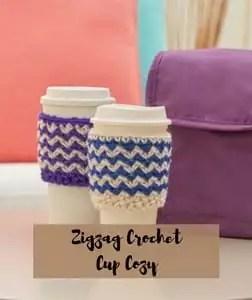 FREE pattern Zigzag Crochet Cup Cozy
