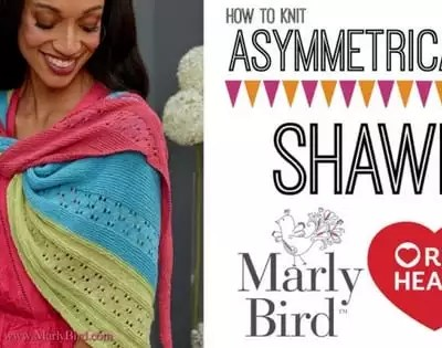 Knit Video Tutorial-How to Knit the FREE Asymmetrical Knit Shawl Pattern