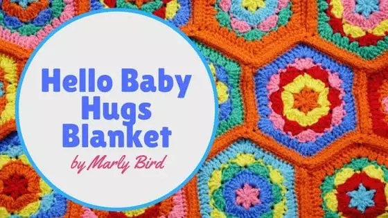 FREE Crochet Baby Blanket Pattern by Marly Bird-Hello Baby Hugs Crochet Blanket