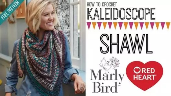 Crochet Video Tutorial: How to Crochet the FREE Kaleidoscope Shawl with Marly Bird