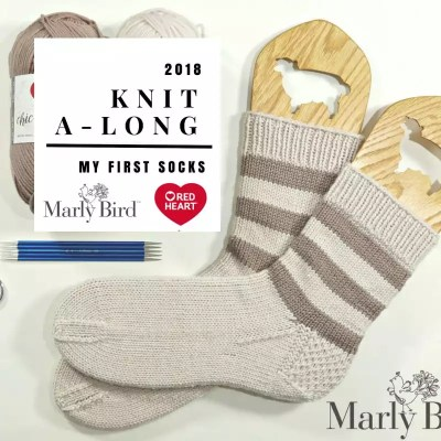 Your First Knit Socks in the 2018 Knit A-long
