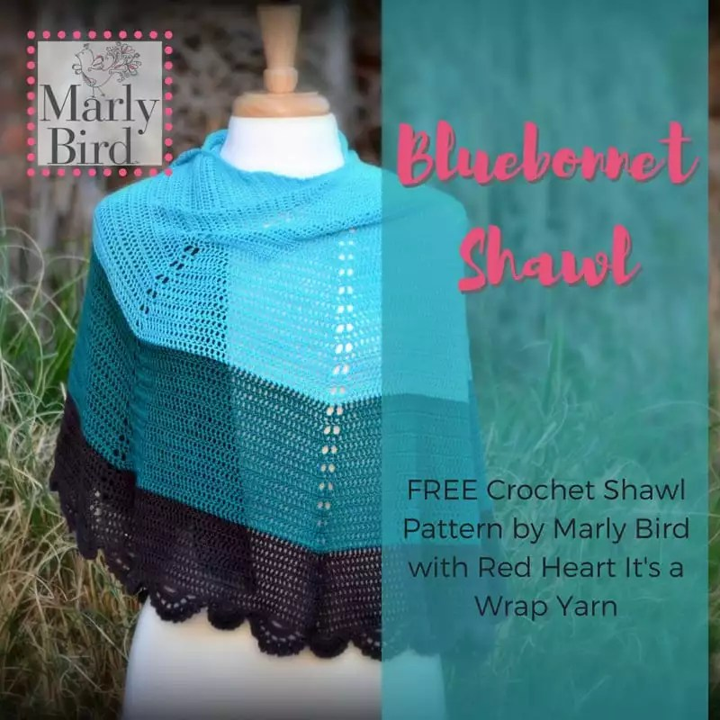 Free Crochet Shawl Pattern With Its A Wrap Yarn Marly Bird