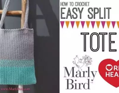 Video Tutorial: How to Crochet Easy Split Crochet Tote