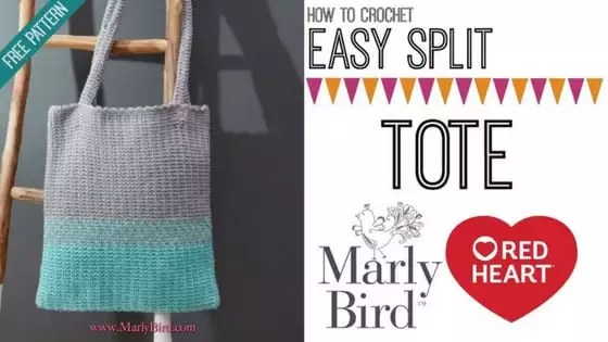 Video Tutorial-How to Crochet the Easy Split Tote