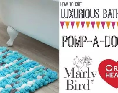 Knit Video Tutorial-How to Knit the Pomp-a-Doodle Knit Bath Mat