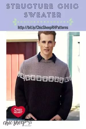 Structure Chic Sweater-FREE Knit Pattern with Chic Sheep by Marly Bird