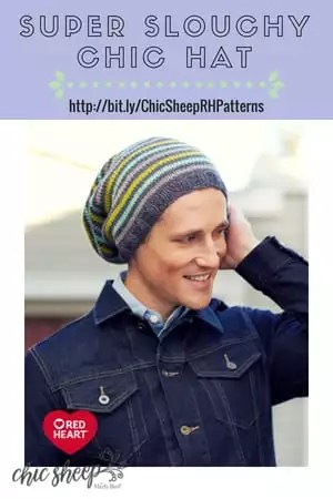 Super Slouchy Chic Hat-FREE Knit Pattern with Chic Sheep by Marly Bird