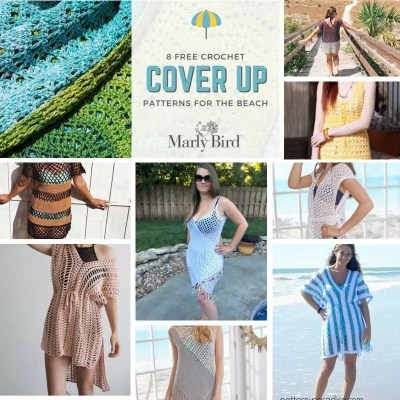 8 FREE Beach Crochet Cover Up Patterns