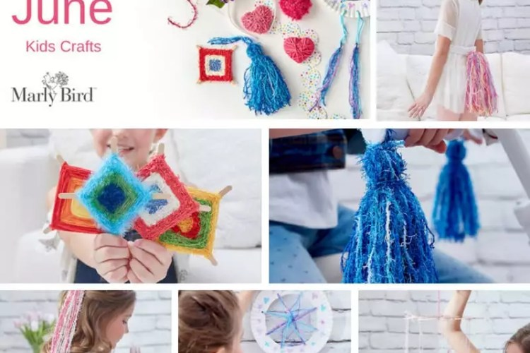 Scrubby Yarn Kids Crafts with Red Heart