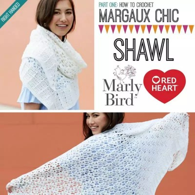 Learn to crochet the NEW FREE Crochet Shawl Pattern-the Margaux Chic Shawl