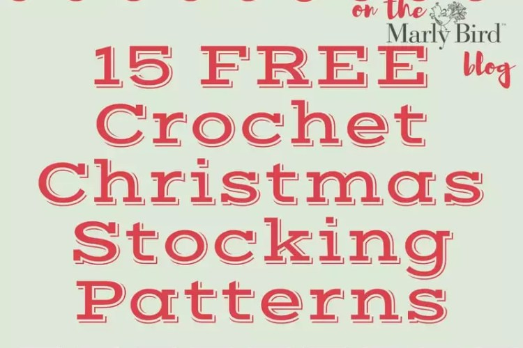 15 FREE Crochet Christmas Stockings Patterns